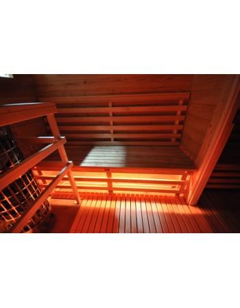 LED apšvietimas saunoms
