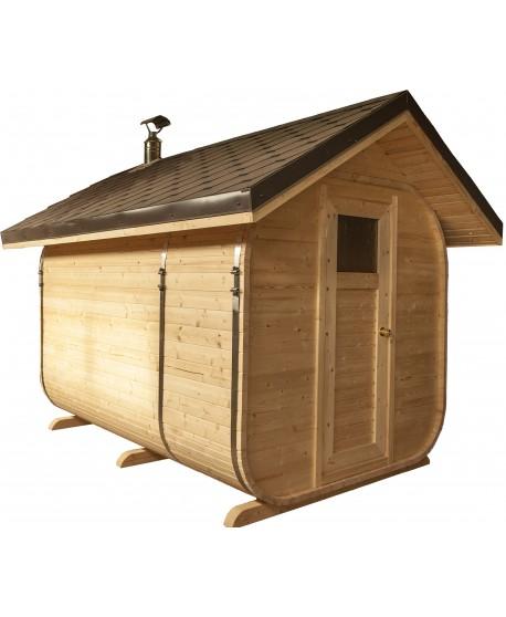 Dvišlaičio stogo sauna