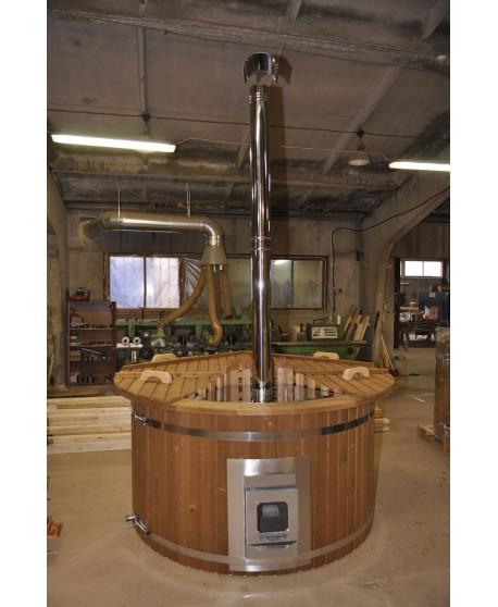 180 cm plastikinis termomedienos kubilas