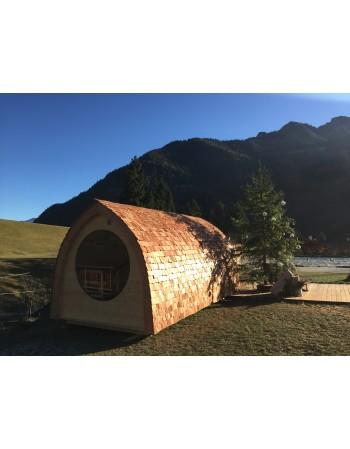 Sauna maza, iglu forma