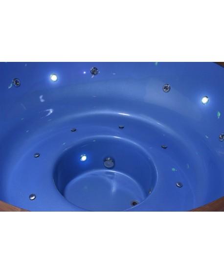 Išskirtinis stiklo audinio kubilas mėlynos spalvos 182cm