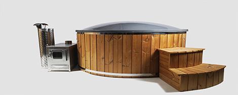 Vildmarksbad Badekar Glasfiber Badekar Sauna Hot Tub Team